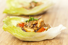 Homemade Asian Chicken Lettuce Wraps Stock Photos