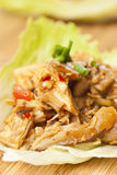 Homemade Asian Chicken Lettuce Wraps Royalty Free Stock Photo