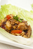 Homemade Asian Chicken Lettuce Wraps Royalty Free Stock Image