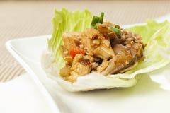 Homemade Asian Chicken Lettuce Wraps Stock Photo