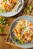 Homemade Asian Pad Thai Royalty Free Stock Photography