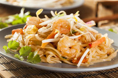 Homemade Asian Pad Thai Stock Photos