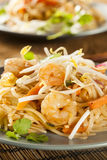 Homemade Asian Pad Thai Stock Photography