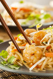 Homemade Asian Pad Thai Royalty Free Stock Photo