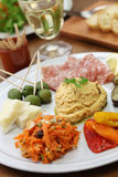 Homemade assortment of appetizers Stock Images