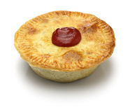 Homemade aussie meat pie. Close up Royalty Free Stock Images
