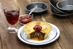 Homemade aussie meat pie Stock Images