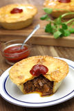 Homemade aussie meat pie. Close up Stock Images
