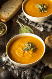 Homemade Autumn Butternut Squash Soup Royalty Free Stock Photos