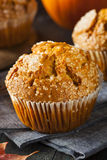 Homemade Autumn Pumpkin Muffin Royalty Free Stock Images