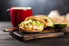 Avocado and egg sandwich Stock Image