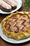 Homemade bacon lattice pie Royalty Free Stock Photos