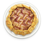 Homemade bacon lattice pie Stock Photos