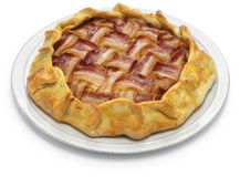 Homemade bacon lattice pie Royalty Free Stock Photo