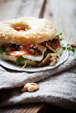 Homemade bagel Stock Photography