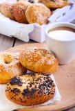 Homemade bagels Royalty Free Stock Photos