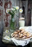 Homemade bagels with nuts Stock Images