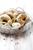 Homemade bagels Royalty Free Stock Photos