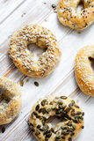 Homemade bagels Stock Image