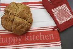 Homemade baked bread. On nice cloth stock photos