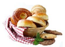 Homemade baked buns brioche, crescent rolls, croissants Stock Photography
