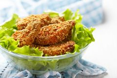 Homemade baked chicken nuggets Stock Photography