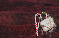 Homemade baked Christmas gingerbread Stock Images