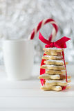 Homemade baked Christmas tree from sugar star cookies Stock Photography