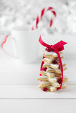 Homemade baked Christmas tree from sugar star cookies Royalty Free Stock Photography