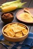 Homemade Baked Corn Chips Stock Image