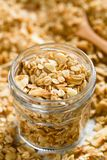 Baked Oatmeal, Almond and Honey Granola stock photography