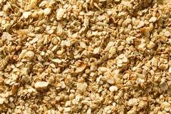 Homemade Crunchy Oatmeal, Almond and Honey Granola stock photo
