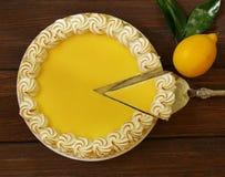 Homemade baked lemon tart cake with meringue Stock Image