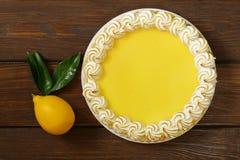 Homemade baked lemon tart cake with meringue Stock Photography