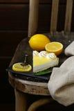 Homemade baked lemon tart cake with meringue Royalty Free Stock Photos