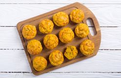 Homemade baked muffins with cheese Stock Image