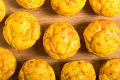 Homemade baked muffins with cheese Royalty Free Stock Photo
