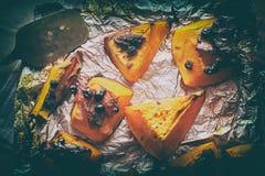 Homemade baked sweet pumpkin stock images