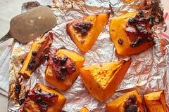 Homemade baked sweet pumpkin royalty free stock photography