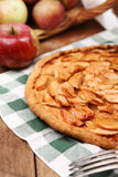 Homemade bakery with apples Stock Images