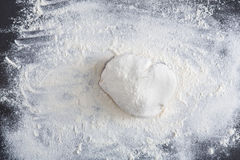 Homemade bakery, closeup of raw dough Royalty Free Stock Photo