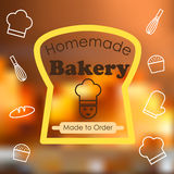 Homemade bakery graphic vector style Stock Image