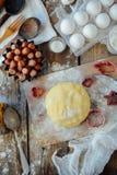 Homemade bakery making, gingerbread cookies close-up.  xmas swee Royalty Free Stock Photos