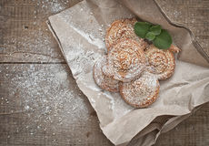 Homemade bakery. Puff cookies with sesame seeds Royalty Free Stock Image