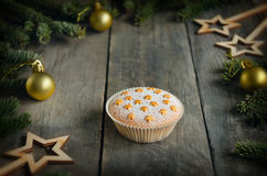 Homemade baking. Muffin. Christmas concept Stock Image