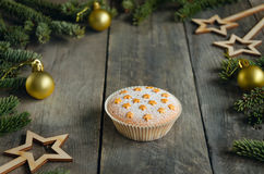 Homemade baking. Muffin. Christmas concept Royalty Free Stock Images