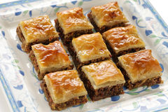 Homemade baklava Royalty Free Stock Images