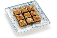 Homemade baklava Stock Photo