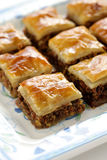 Homemade baklava Stock Photography