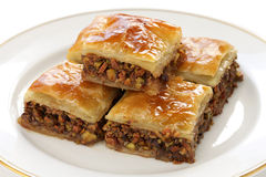 Homemade baklava Stock Photos